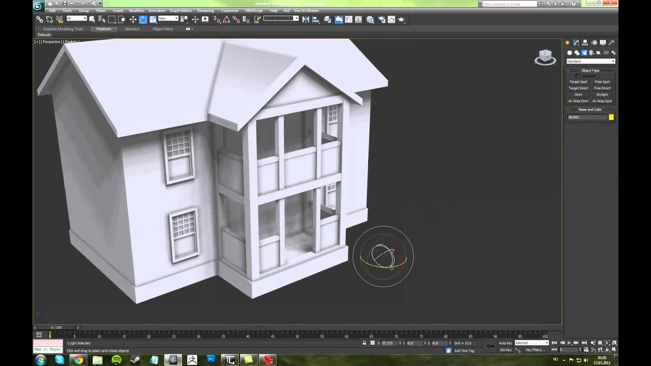 3ds max house modelling