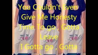Toni Romiti - Time to Leave Lyrics