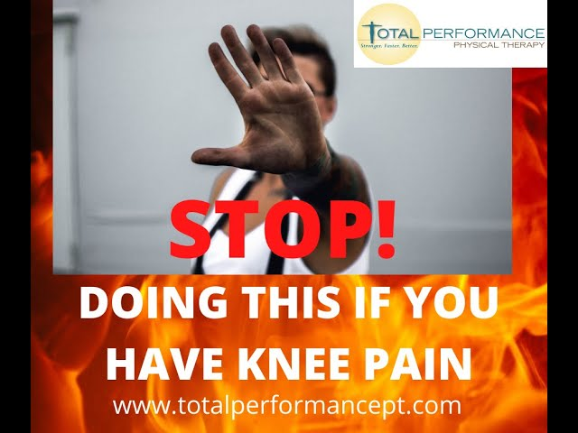 STOP doing this if you have knee pain