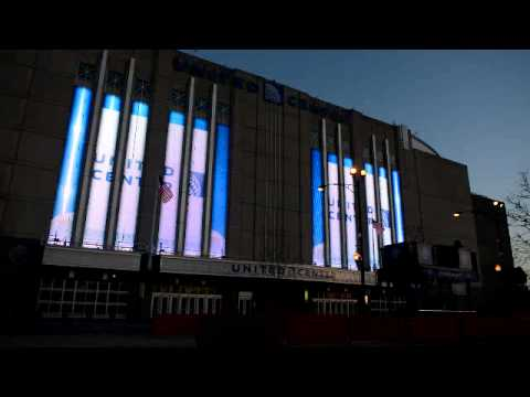 United Center, as lit up by Super Electric!