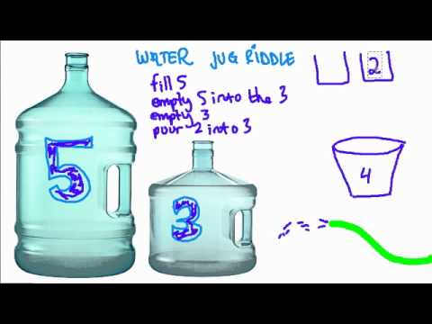 Water Jug Riddle Youtube