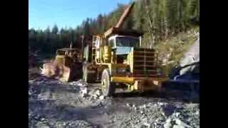 Old D-8 Cat and Kenworth Off Road Logging Truck