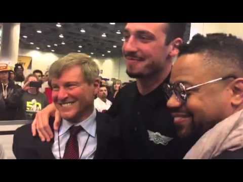 Cuba Gooding Jr., Paxton Lynch, Leigh Steinberg At Super Bowl 50 #SB50