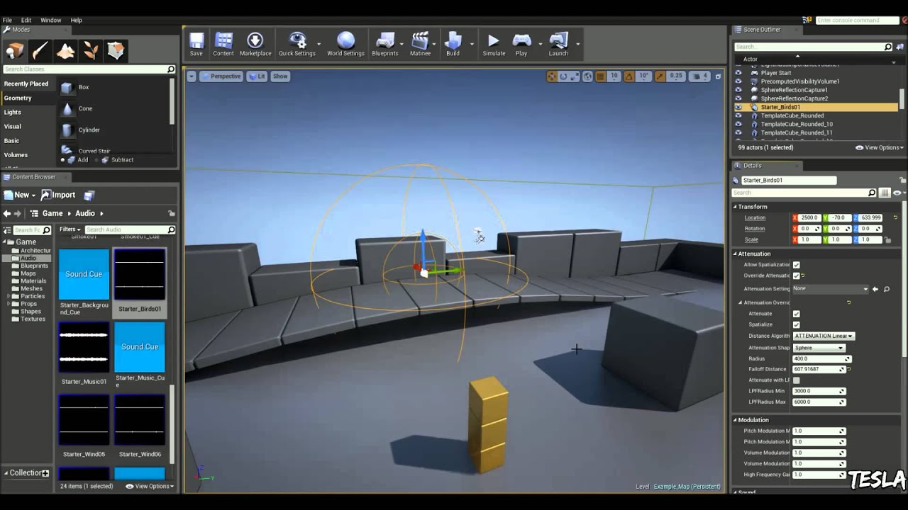 Unreal engine 4 tutorial ambient audio basic youtube unreal engine 4 tutorial ambient audio basic malvernweather Image collections