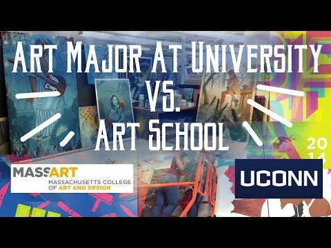 Art Major at University VS Art School