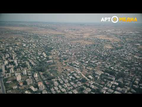 Abadoned part of Famagusta - Varosha from air, Cyprus, May 2018