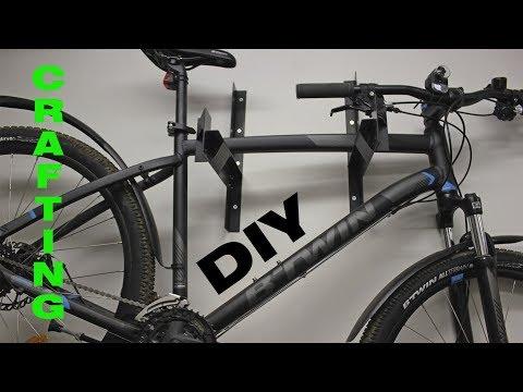 DIY. Как повесить велосипед на стену. Простое крепление из хлама. Bike wall mount