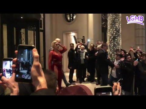 Lady Gaga saliendo de su hotel en Milán, Italia - 17/01/18