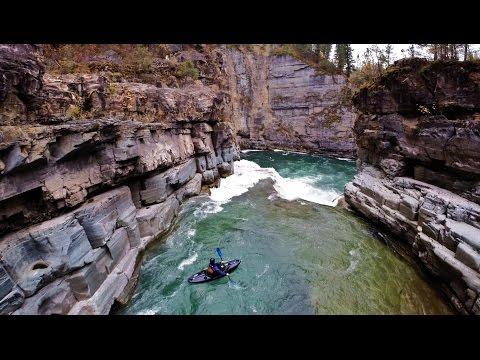 Dji Phantom 2 Kayaking!! Leap of Faith on the Elk river, British Columbia