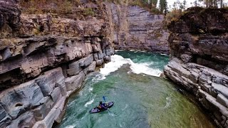 Dji Phantom 2 Kayaking!! Leap of Faith on the Elk river, British Columbia
