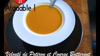 Soupe - Velouté de Potiron, Courge Butternut et Patate Douce