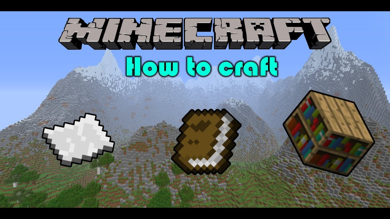 How To Make A Book Minecraft : Minecraft crafting how to paper book shelf