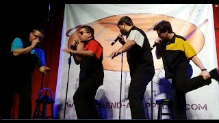 """Blend"" performs ""Wipe-out"" in their unique a cappella style at Athens Theater, DeLand, FL (1/5/16)"