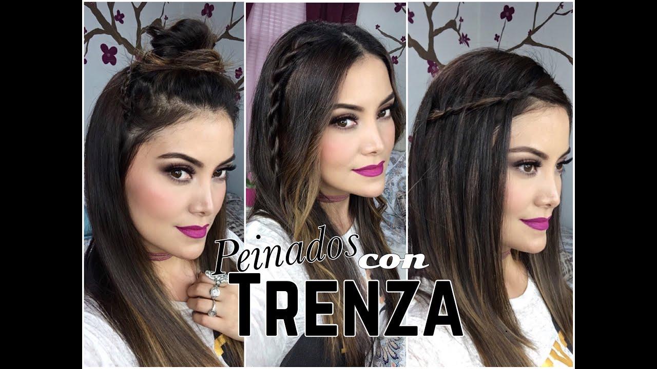 Peinados f ciles y bonitos con trenza youtube - Peinados fiesta faciles ...