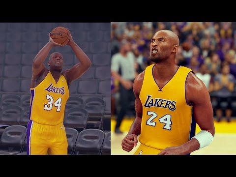 CAN SHAQ BEAT KOBE BRYANT IN A THREE POINT CONTEST? NBA 2K17 CHALLENGE GAMEPLAY