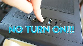 A Desktop That Turns On For a Second and Turns off - PC Troubleshooting # 1
