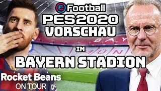 eFootball PES 2020 Preview Event - Sandro in der Allianz Arena | Rocket Beans On Tour