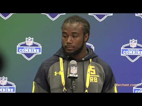 Dalvin Cook talks at the NFL Scouting Combine