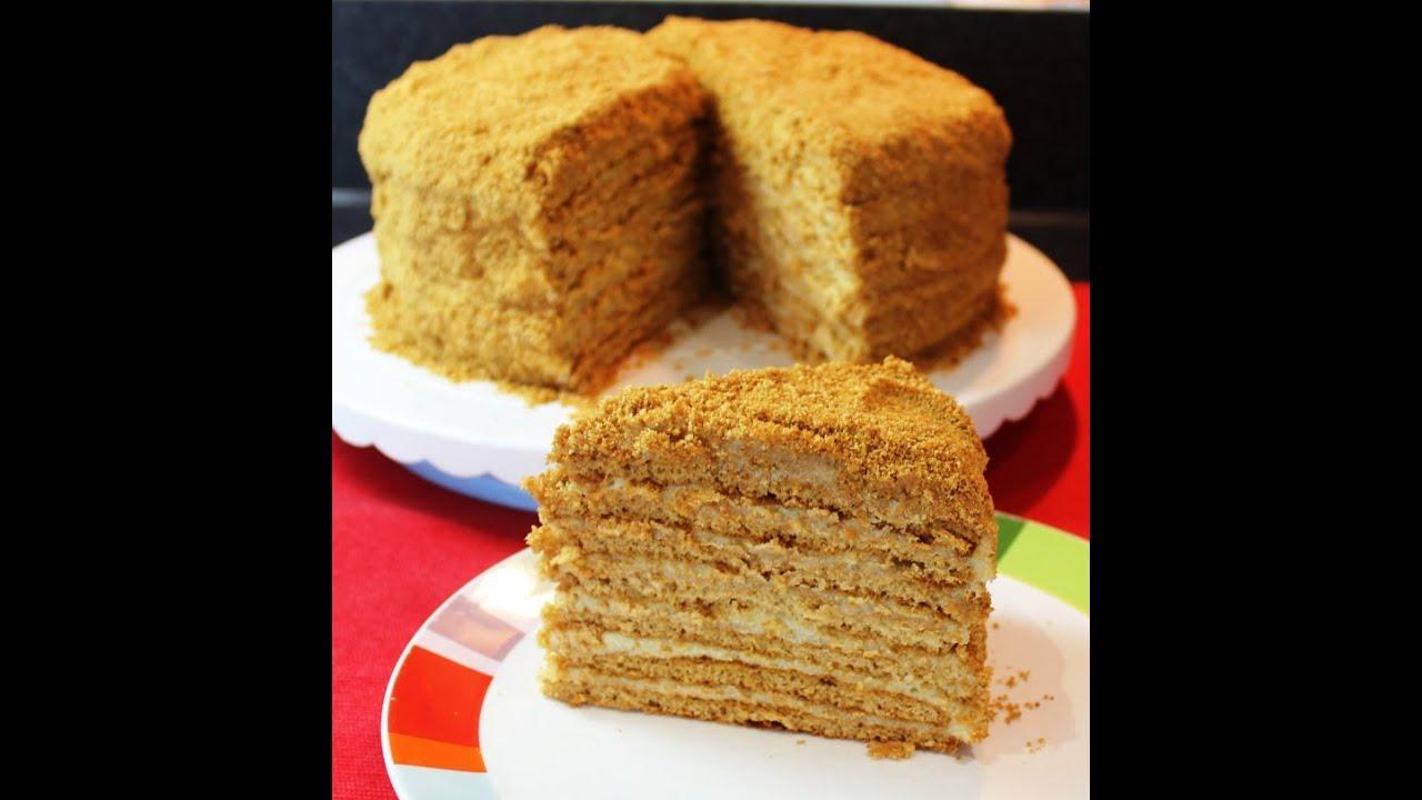 Торт МЕДОВИК, самый лучший и простой рецепт, очень вкусно.  Подробнейший рецепт. Russian Honey Cake.