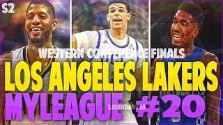 WESTERN CONFERENCE FINALS!! CAN LONZO AND PG CARRY US?!! NBA 2K17 LA LAKERS MYGM #20