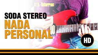 Como tocar Nada personal de Soda Stereo en Guitarra electrica, acustica o clasica CLASE TUTORIAL