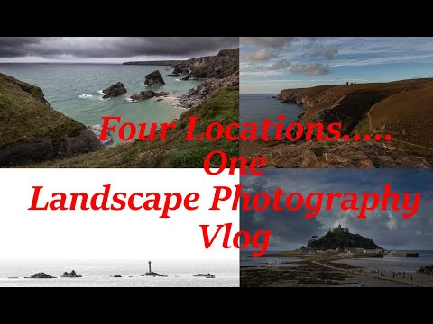 Four Locations.... One Landscape Photography Vlog! - Cornwall - Canon 77D  - Crop Sensor Photography