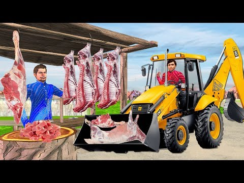 Mutton Shop JCB Wala Comedy Video   Hindi Kahaniya Funny Video Stories