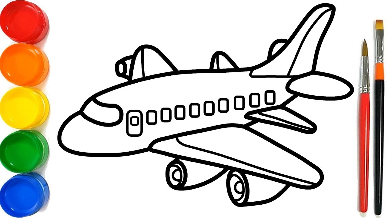 Glitter Planes Coloring Pages For Kids Pesawat Terbang Halaman Mewarnai