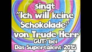 """Renate Schatz singt """"Ich will keine Schokolade"""" von Trude Herr GUT? bei Das Supertalent 2015"""