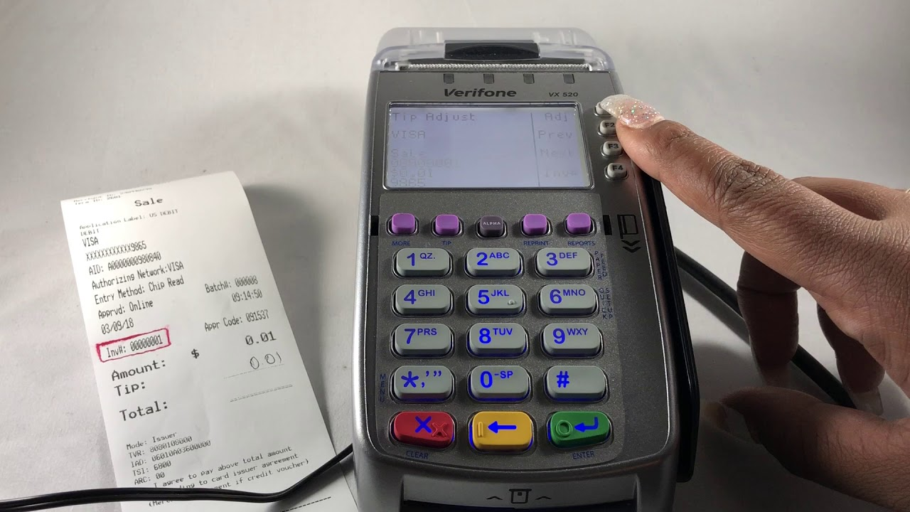How to Easily Adjust Tips on Verifone VX520 Desktop Terminal | AMP Payment  Systems