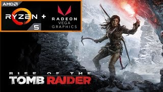 Rise of the Tomb Raider (Ryzen 5 2400G + Radeon RX Vega 11) PC Benchmark 1080p HD