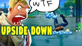 How To Do The Upside Down Glitch in Fortnite, week 8, season 6, Fortnite