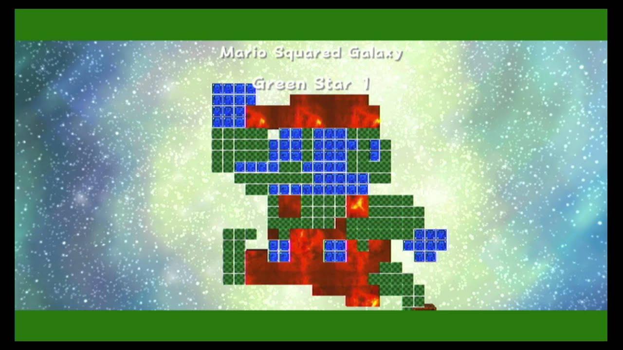 Super Mario Galaxy 2 ~ World S: Mario Squared Galaxy Green ...