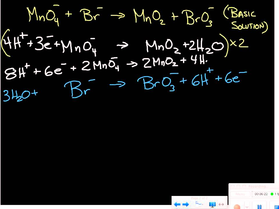 balancing redox equations half reactions basic solutions youtube. Black Bedroom Furniture Sets. Home Design Ideas