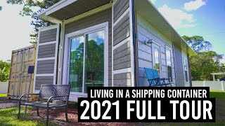 Full Tour of My Shipping Container Home | My Mom's Home Away From Home