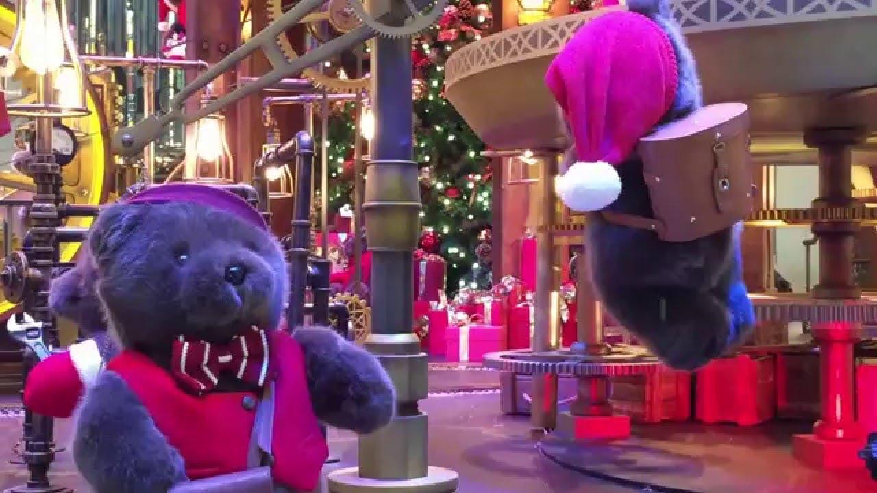 置地廣場聖誕燈飾 聖誕小熊的家 2015 - YouTube