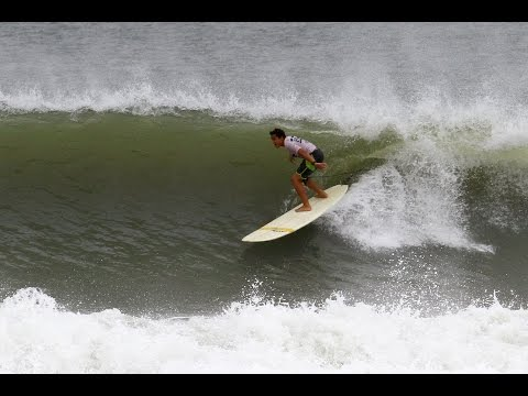 Jacksonville Beach Pier Sessions - Surfing Hurricane Joaquin