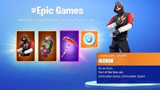 The New ICONIC PACK REWARDS in Fortnite...