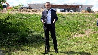 Prezydent Andrzej Duda na budowie trasy Via Baltica koło Ostrołęki