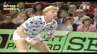 Boris Becker vs Stefan Edberg  Final Open Paris Bercy 1989