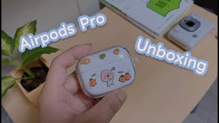 Apple Airpods Pro Unboxing + cute case 🌿 Aesthetic