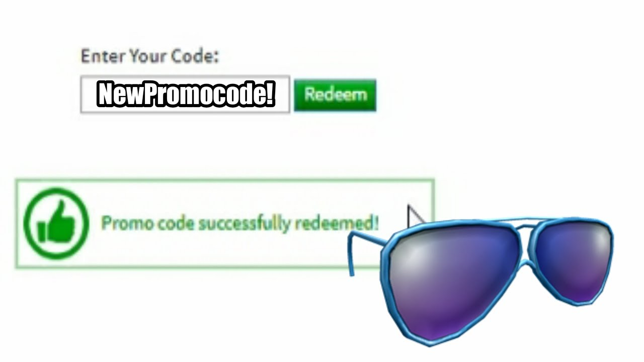 Roblox New Promo Code 2019 Free Glasses Youtube