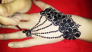 Simple Arabic Mehndi designs for back hands||Simple and easy way to draw on hands||