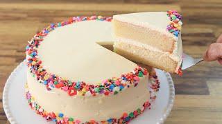 Classic Vanilla Cake Re¢ipe | How to Make Birthday Cake