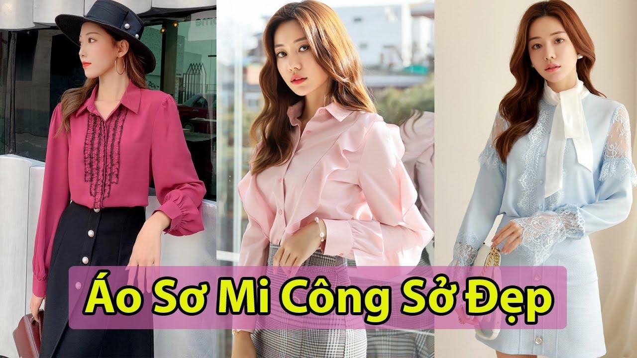 Top 7 Mẫu áo sơ mi đẹp Phong cách Hàn Quốc cho nàng công sở