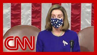 Nancy Pelosi speaks as Congress reconvenes after riot at Capitol