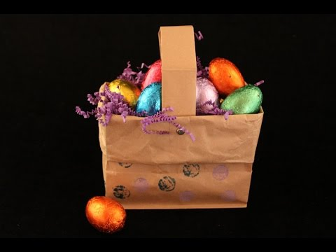 how to make a basket out of paper bag