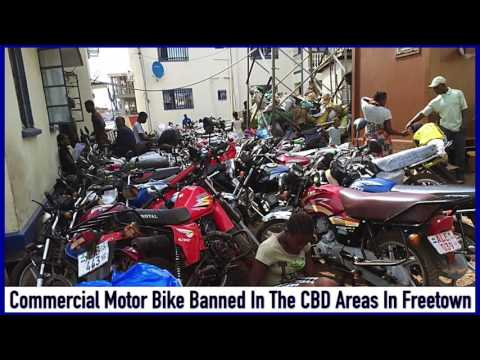 Commercial Bike Riders Banned In The CBD Area In Freetown