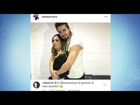 Hora da Venenosa: Rafael Vitti brinca em foto de Tatá Werneck abraçada com Luan Santana