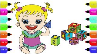 Baby Hazel Games Coloring Pages - Top Baby Games Draw & Color - Video for Babies & Kids